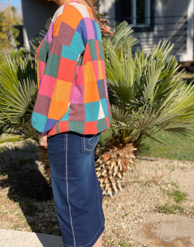 Soft Oversized Patchwork Sweater
