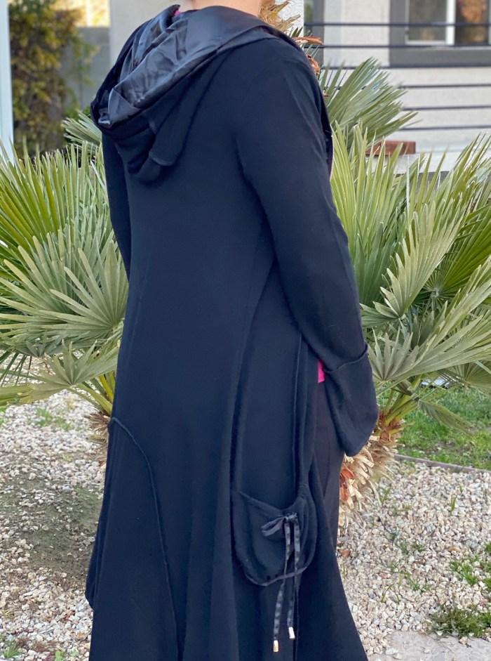 Black Zip Up Hooded Jacket