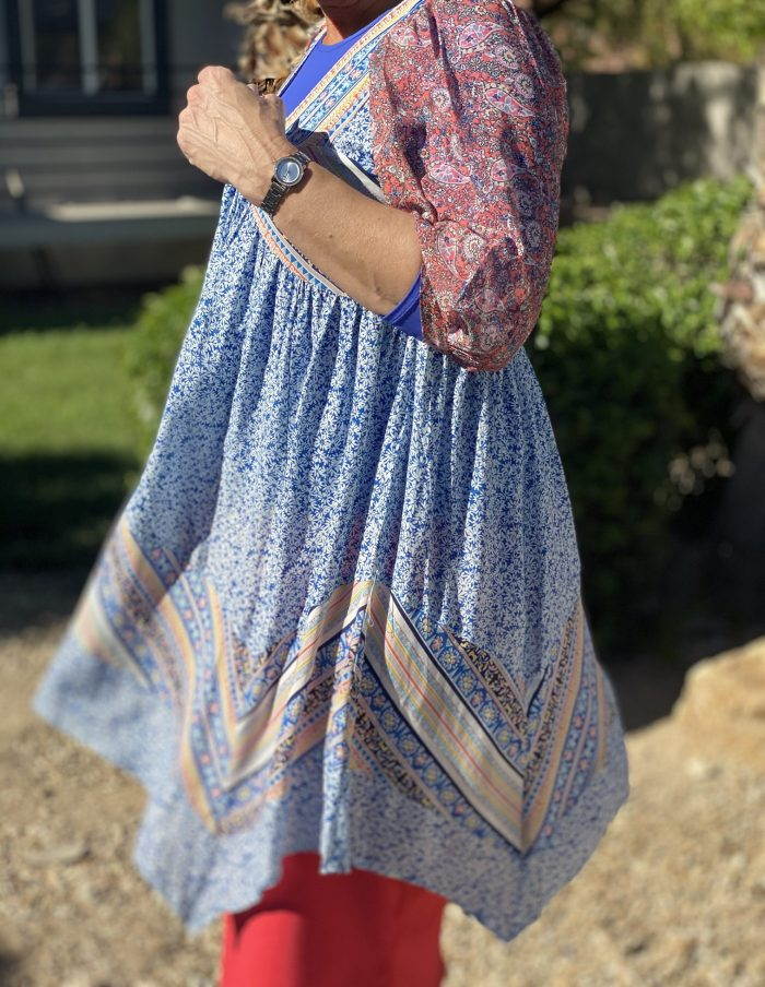 Blue Swing Handkerchief Tunic