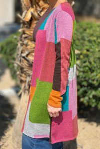 Fall Patchwork Cardigan