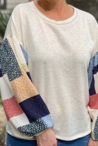 Patchwork Sweater - Cream