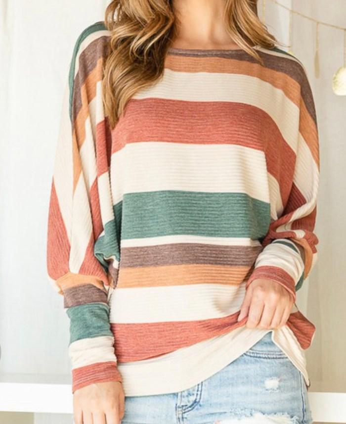 striped spring dolman top