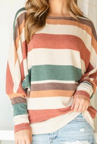 striped spring dolman top