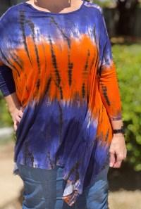 Royal Blue Orange Sharkbite Tunic