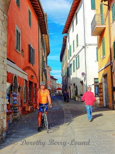 A bicycle ride in an Italian Town