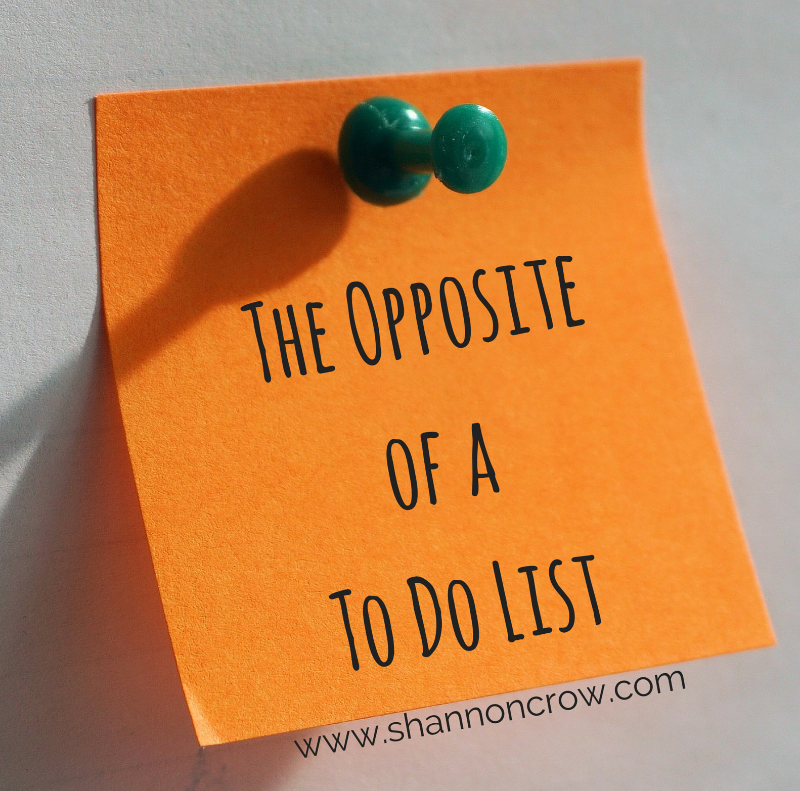 The opposite of a to do list shannon crow m4hsunfo