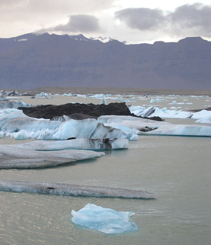 This is Jökullsárlón, also known as the Iceberg Lake. Incredible, magical place. A glacial tongue slowly calves off into this lagoon, and the chunks of ice, some as large as buildings, slowly make their way out to the sea. There is a stillness and a chill in the air here unlike any place I have ever been.
