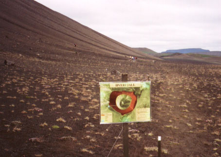 There were two footpaths up to the rim of Hverfjall, and one of them was past its prime. Our job was to erase the path as best we could by digging it up and smoothing out the profile that the path had cut into the crater. A new path would be opened that followed a more natural line in the crater's topography and which would be less visible from afar.
