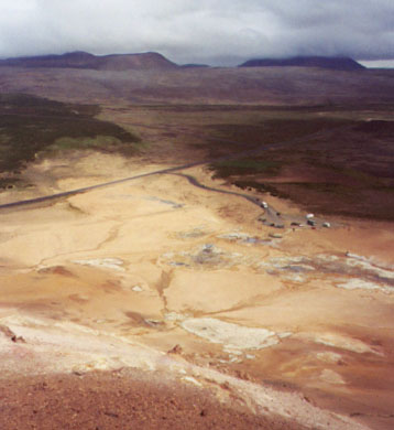 Looking down on Hverir and the parking area