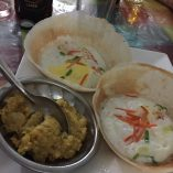 Mmm, egg hoppers and dhal.