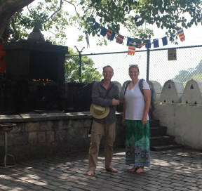 Mark and me at the Dambulla cave temple