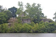 The Tri lake view cottages, as seen from the water
