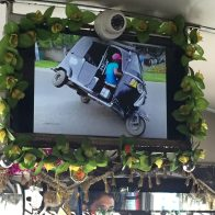 Public bus entertainment included these tuk tuk drivers sideshowing and stunting. Just like Oakland!