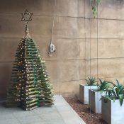 Bamboo Christmas tree at Koggala Lake