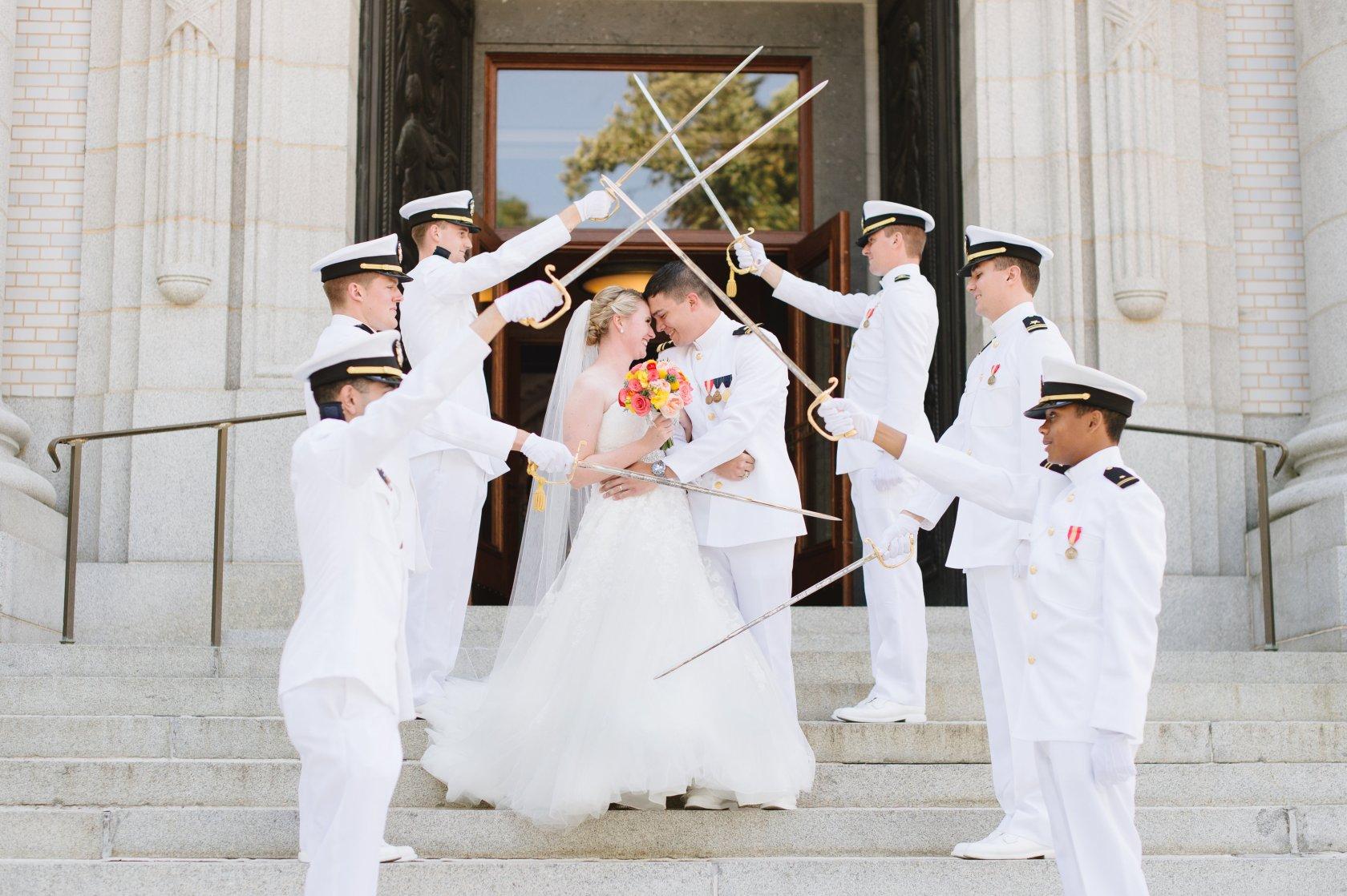 Natlaie Franke Naval Academy Wedding