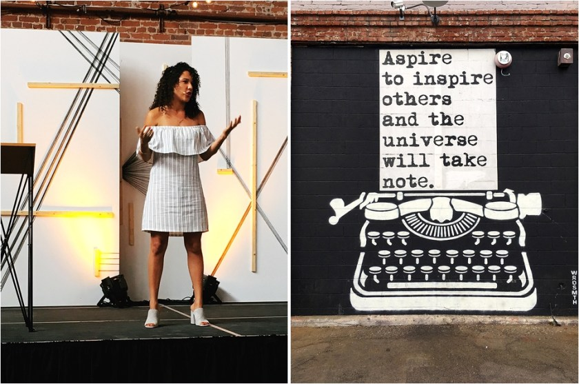 Natalie Warne, Yellow Conference, Yellow Conference 2017, Yellow Conference speakers, LA Arts District art mural, la art mural, typewriter art mural, copywriter, hire a copywriter