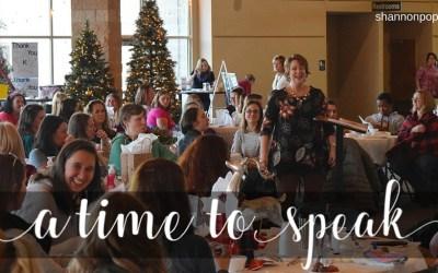 Why I Speak (Especially at Christmas)