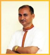 Acharya Jai Krishan Tripathi - M.A. and PhD teaches Hindi.
