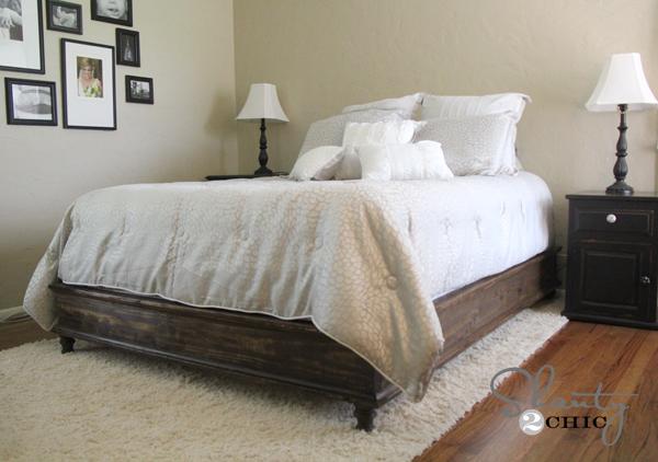 King Size Bed Frame Diy Shanty 2 Chic