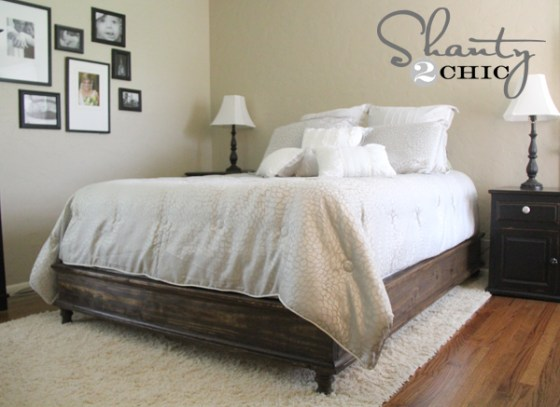 DIY Queen Platform Bed Frame