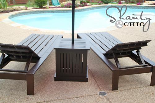 DIY outdoor patio set
