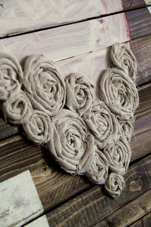 hot glue fabric flowers