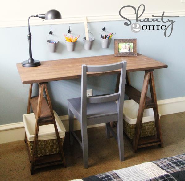 Restoration Hardware Diy Desk Shanty 2 Chic