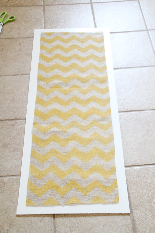Diy Wall Art Chevron And Burlap Shanty 2 Chic