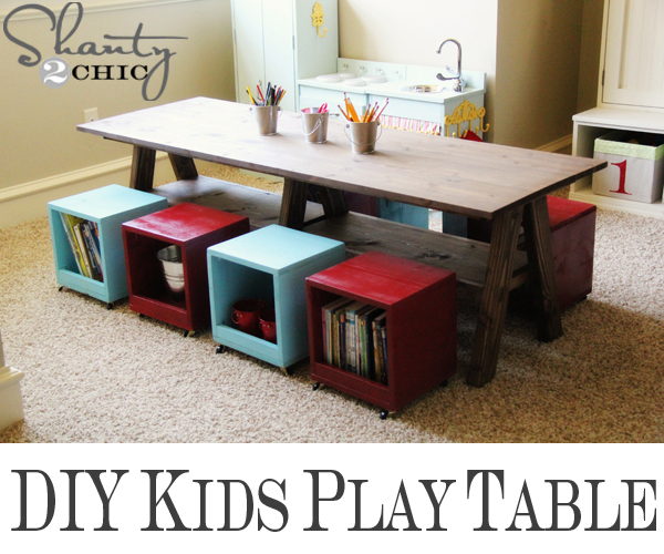 Playroom Kids Table DIY - Shanty 2 Chic