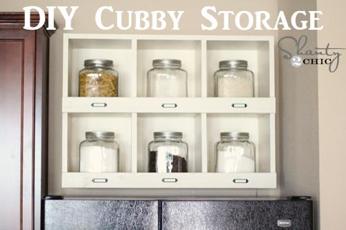 how to build a storage shelf