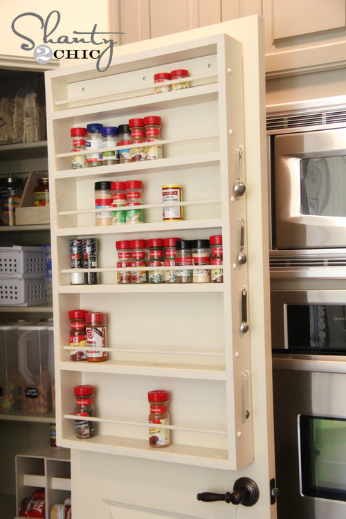 Pantry Ideas Diy Door Spice Rack Shanty 2 Chic