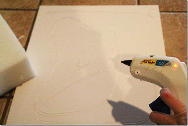 hot glue foam board to foam