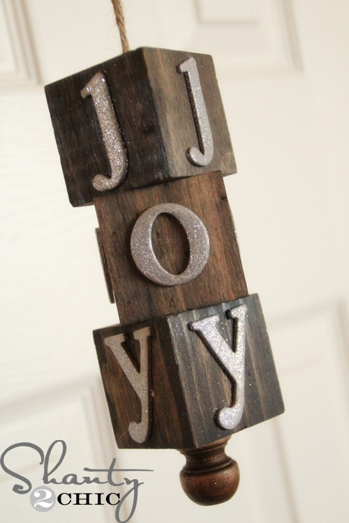 Make A Diy Wooden Block Ornament For The Holidays