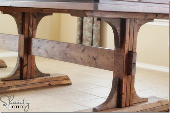 pedestal style farmhouse table