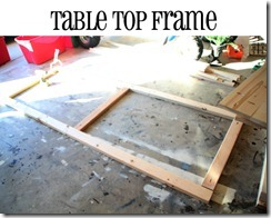 table top frame