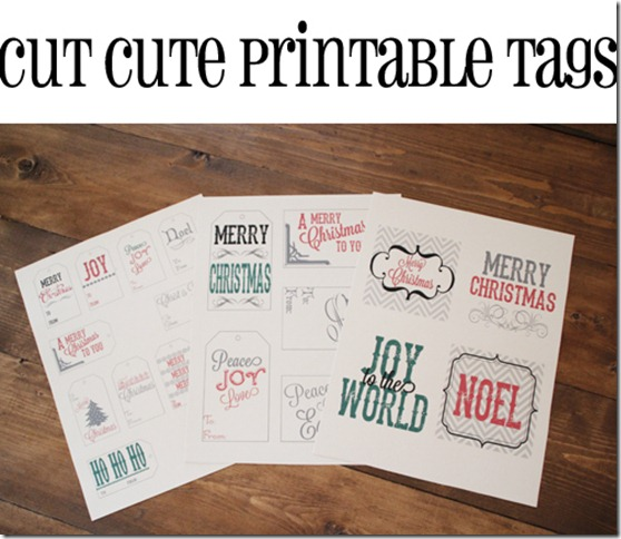 Cut Cute Printable Tags