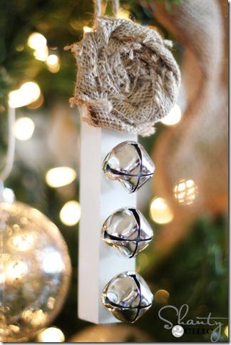 burlap ornament
