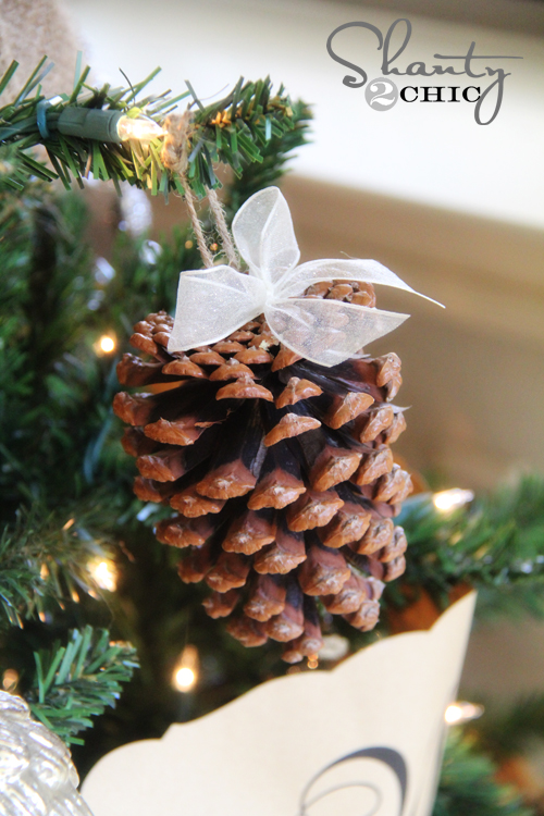 Pine Cone Christmas Tree Craft Project.Diy Pinecone Ornaments My Tree Shanty 2 Chic