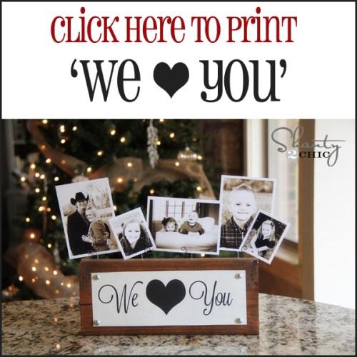 Photo Display Gift & Free Printables