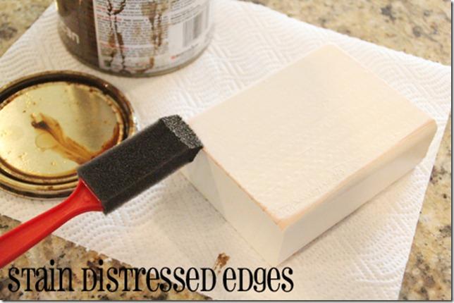 stain edges