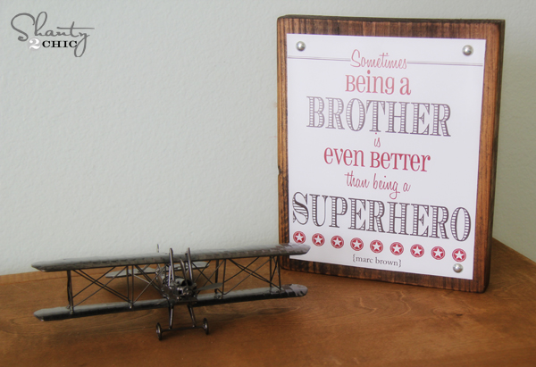 free printable brother quote