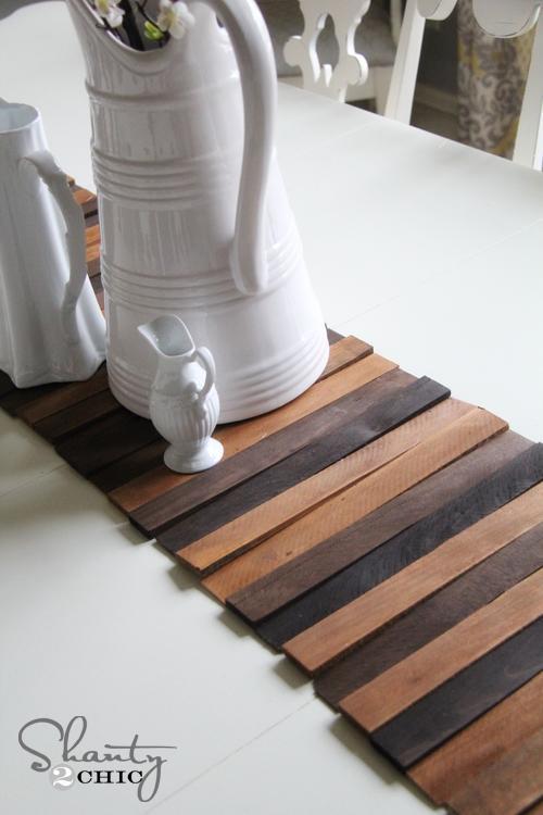 Wood Shim Table Runner