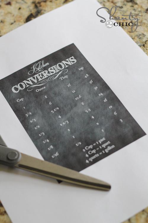 free printable kitchen chart