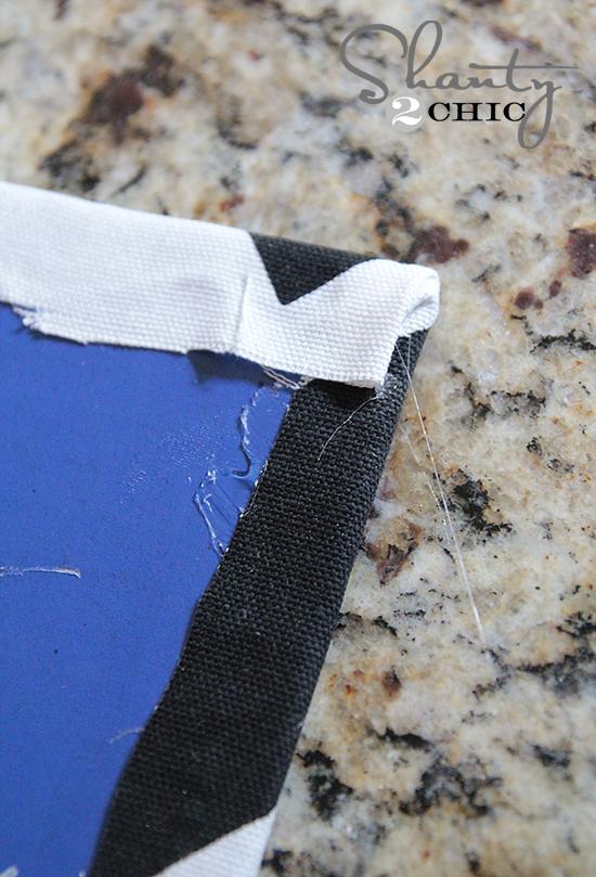 Corner of Fabric Magnet Board