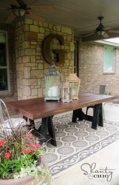 diy outdoor patio table DIY Table - Pottery Barn Inspired - Shanty 2 Chic
