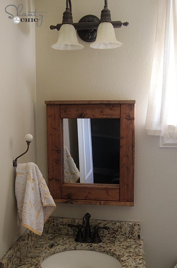 How to frame bathroom mirror