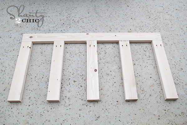 Back of DIY porch swing