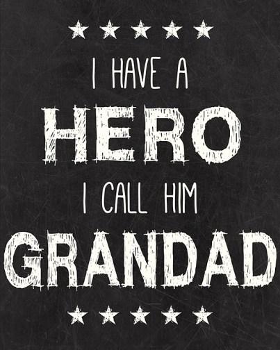 Grandad Hero Printable I