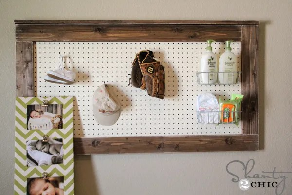 Diy Wall Decor Pegboard Shanty 2 Chic