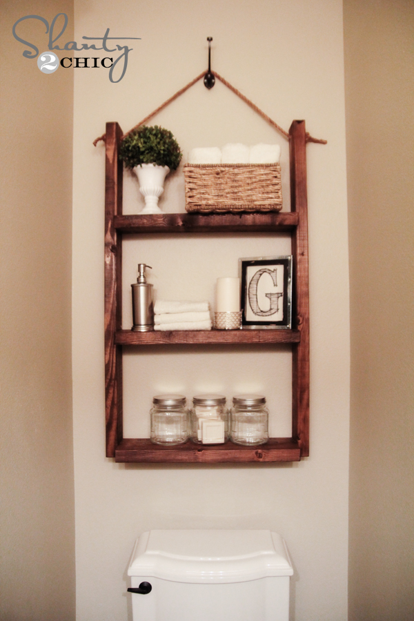How To Make A Hanging Bathroom Shelf For Only 10 Shanty 2 Chic